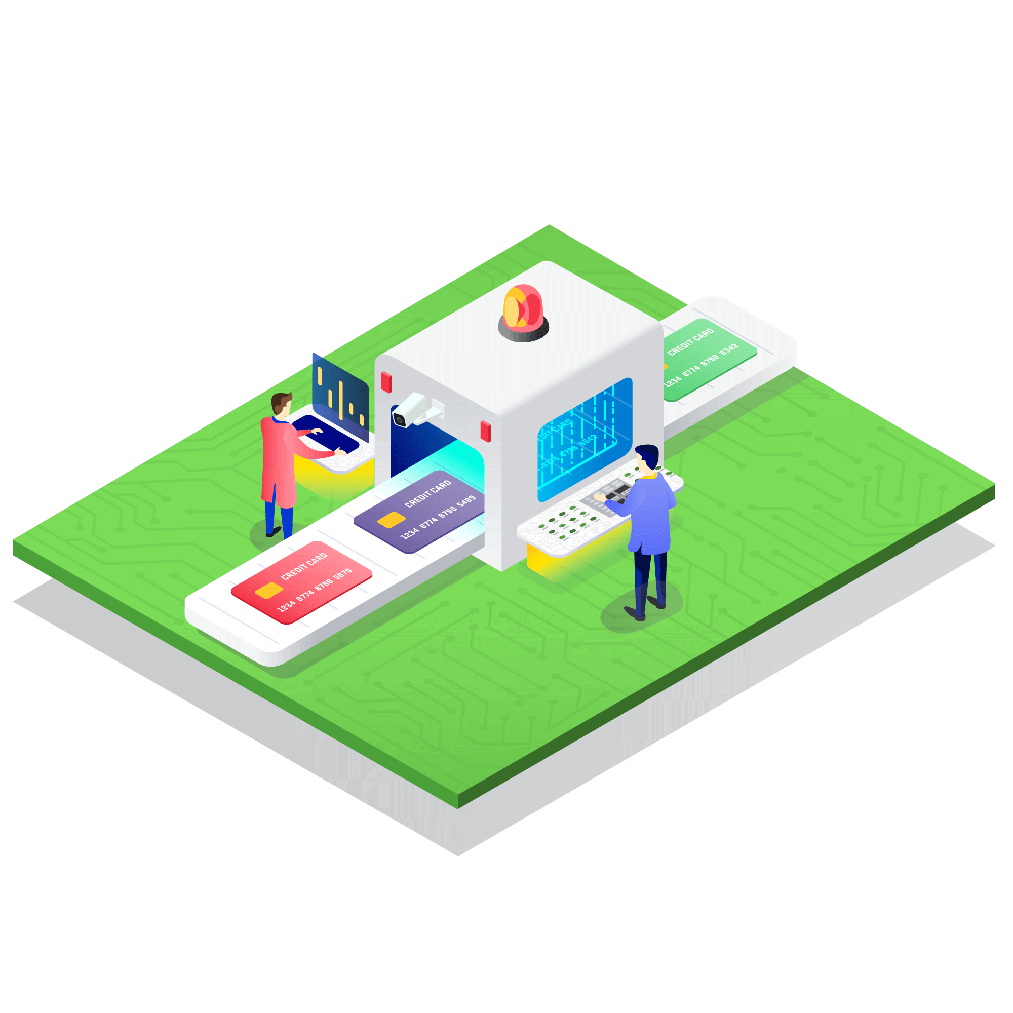 (Paycore)_Illustration_isometric_Manage-risk-effectively_04
