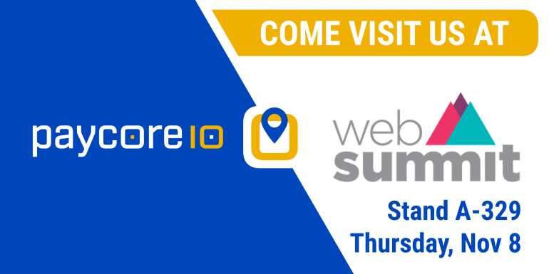 PayCore.io will be exhibiting at Web Summit 2018
